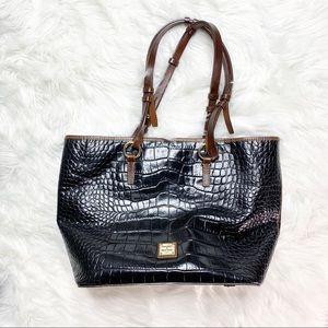 • Dooney & Bourke Snakeskin Leather Tote •